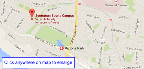 Scotstoun Sports Campus map